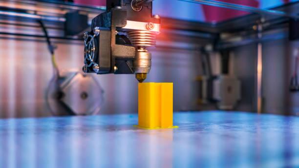 3D Printer Printing Prototypes stock photo