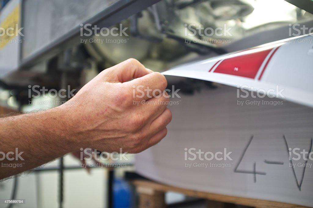 printer working at offset machine stock photo