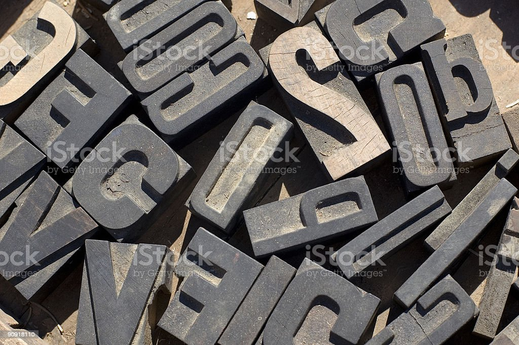 printers letters stock photo