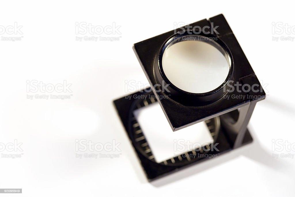 Printers loupe stock photo