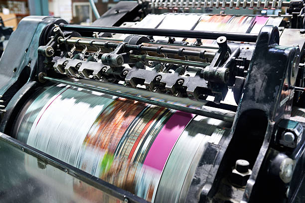 Printing at high speed stock photo