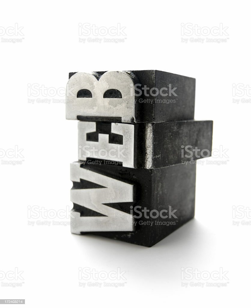 WEB - printing blocks royalty-free stock photo