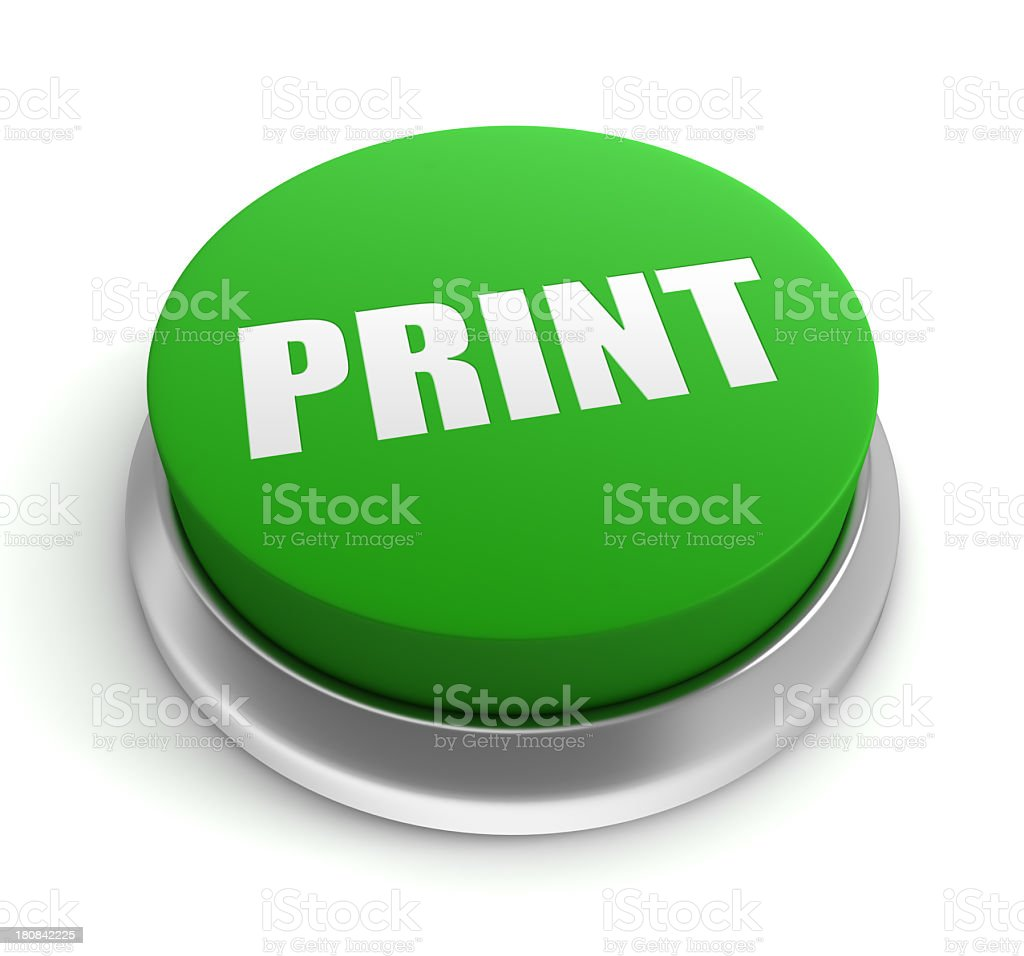 Printing Button royalty-free stock photo