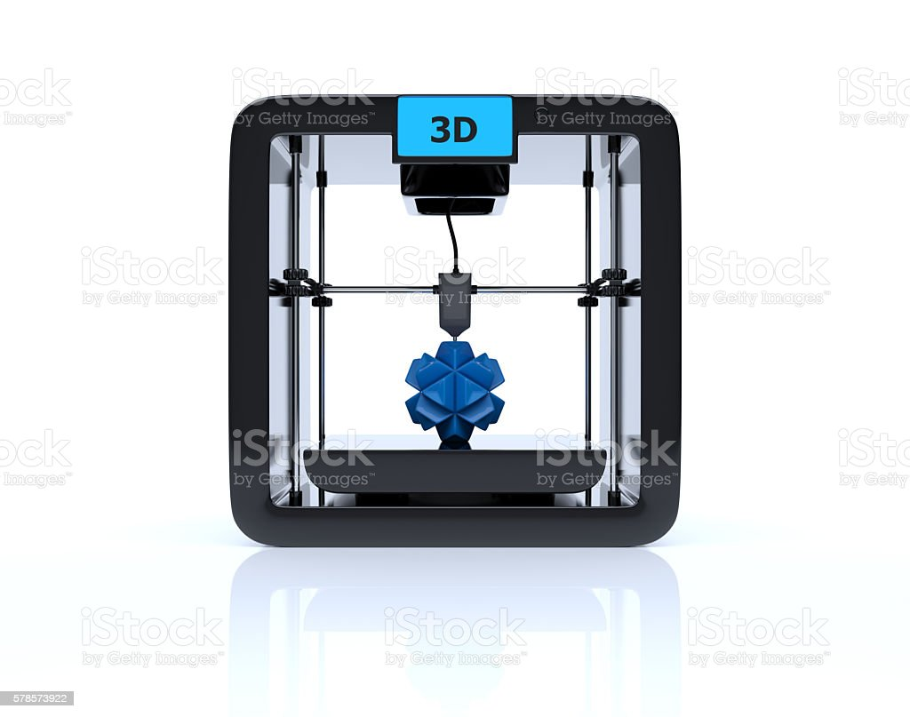 3D printing digital concept stock photo
