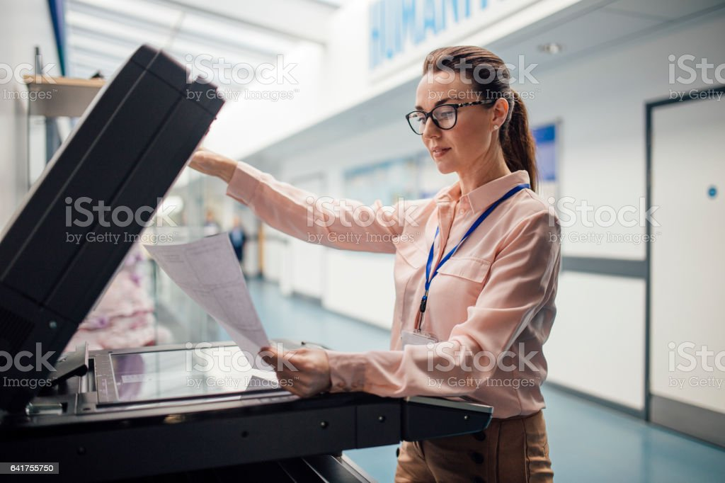 Printing In Preparation For Lessons stock photo