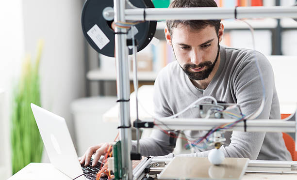 3D printing in the laboratory stock photo