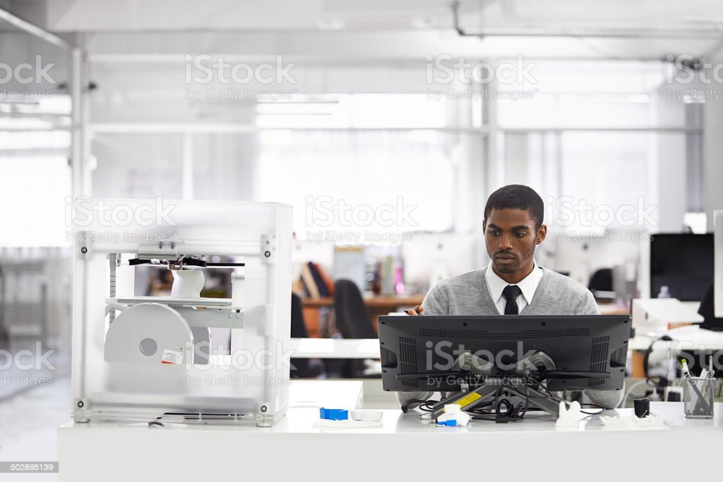 3D printing is the way forward stock photo