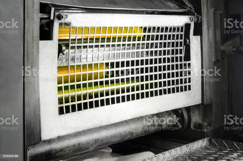 printing machine cylinders and printing ink