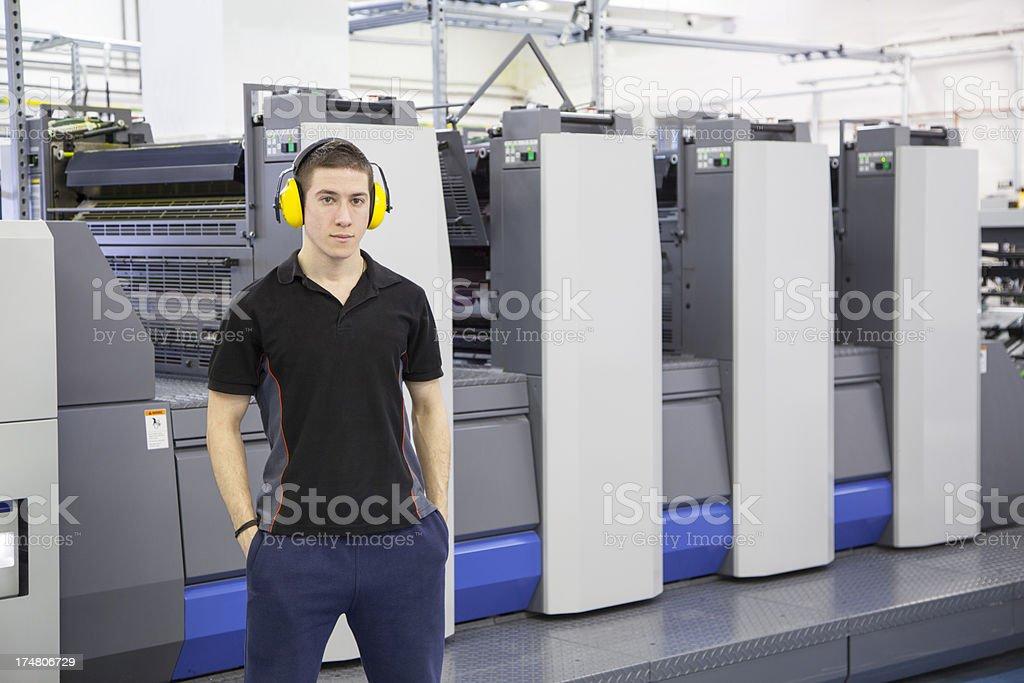 printing machine operator royalty-free stock photo