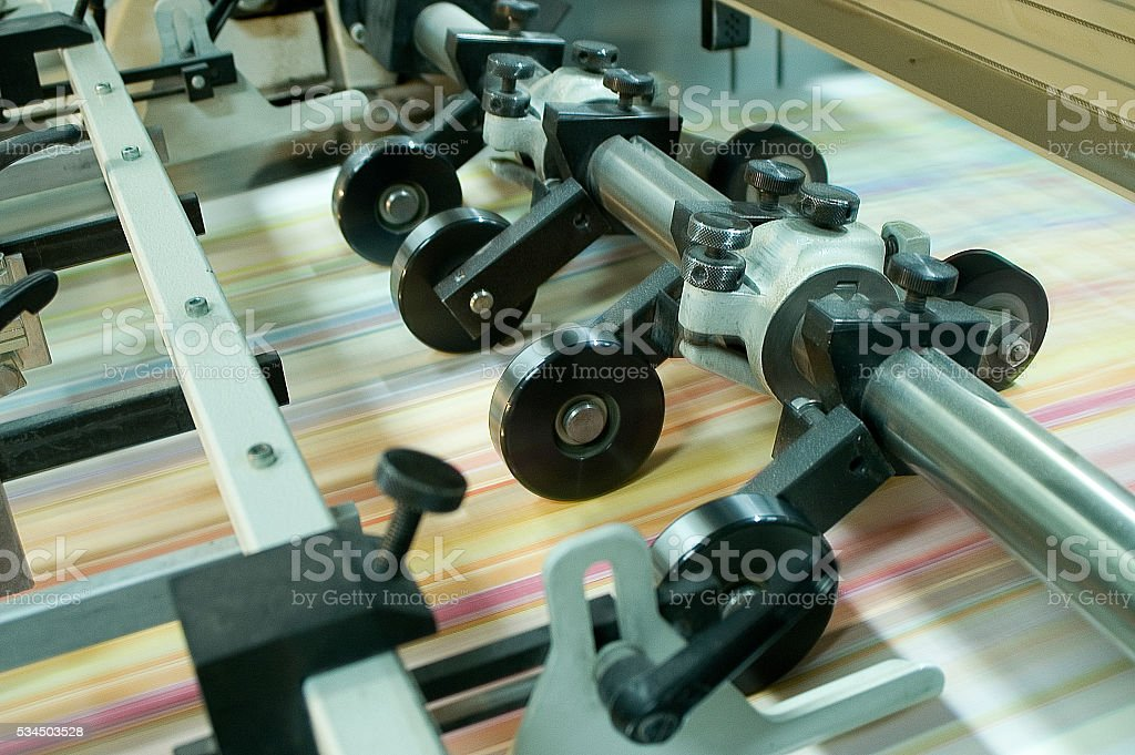 Printing machine part stock photo