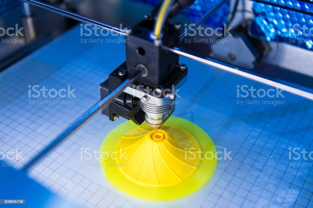 3 D máquina de impresión - Foto de stock de Automatizado libre de derechos