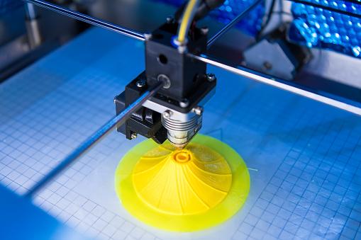 3 D Máquina De Impresión Foto de stock y más banco de imágenes de Automatizado