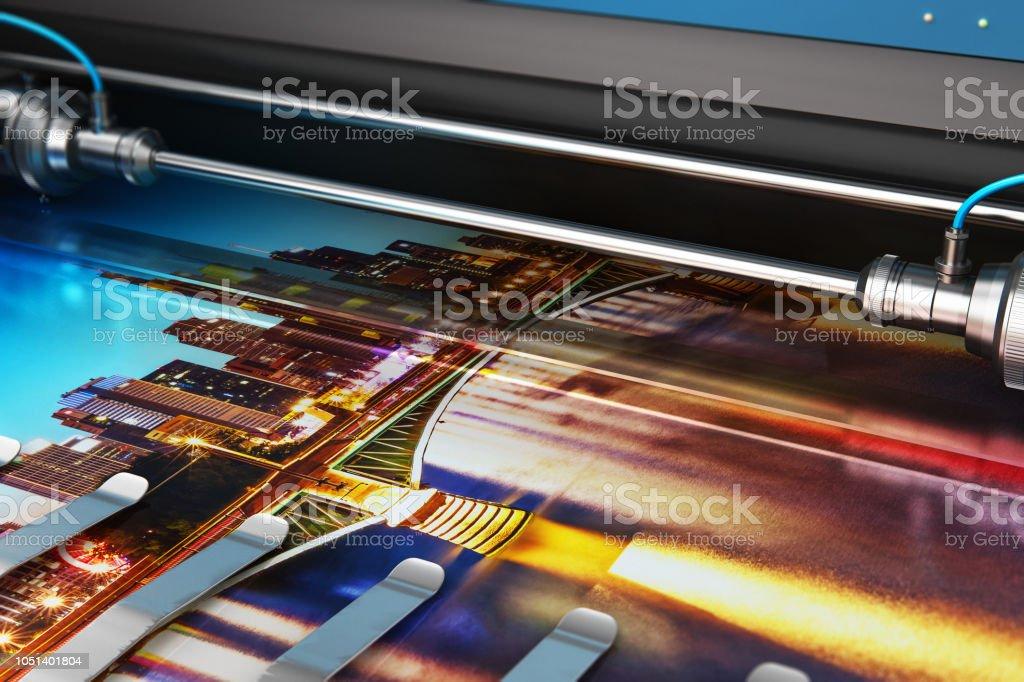 Großformat Farbe Plotter bedrucken Foto-banner – Foto