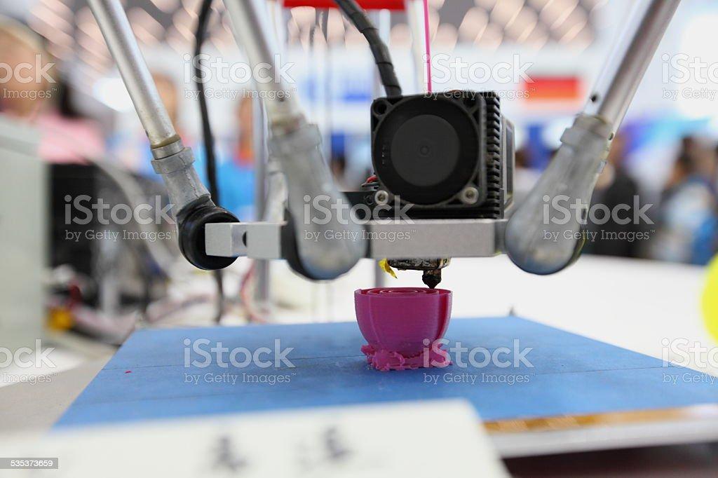 3D printing piece bildbanksfoto