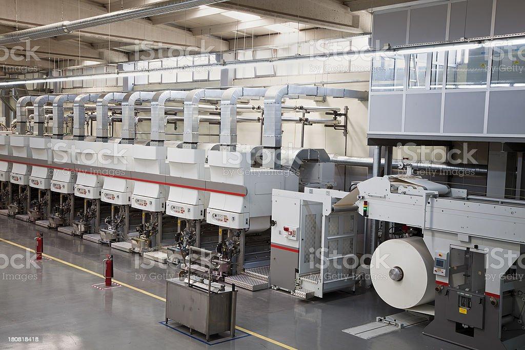 Printing plant stock photo