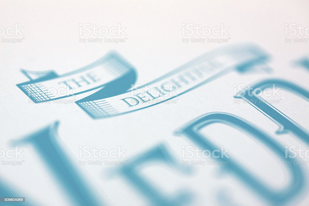 Printing Plate Lithographic stock photo