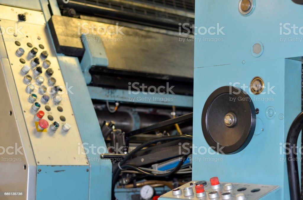 Printing press control panel royalty-free stock photo