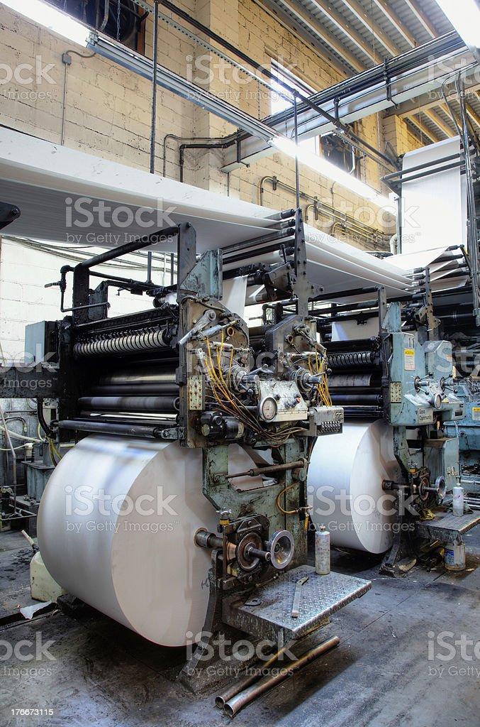 Printing Press royalty-free stock photo