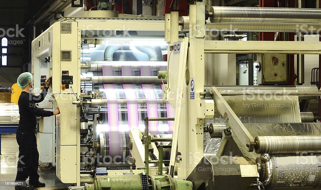 Printing presses stock photo