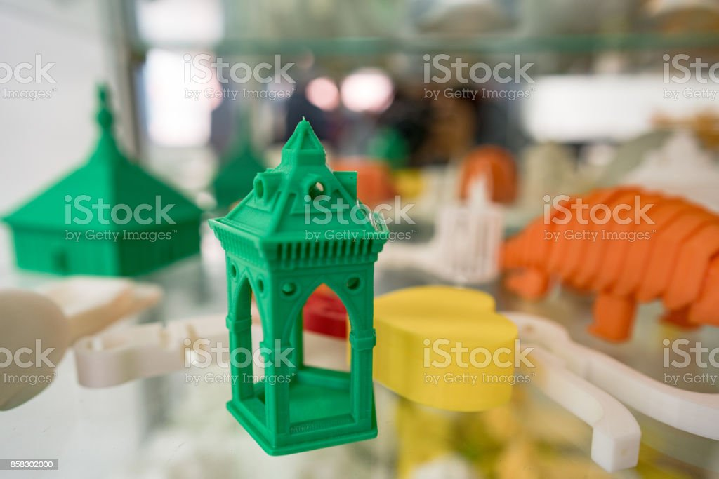 3D printing production model stock photo