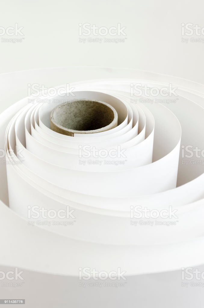 Printing Roll paper background stock photo