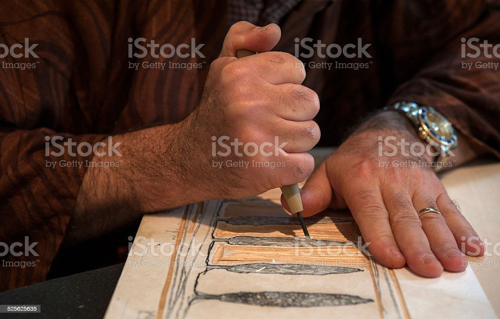 printmaking stock photo