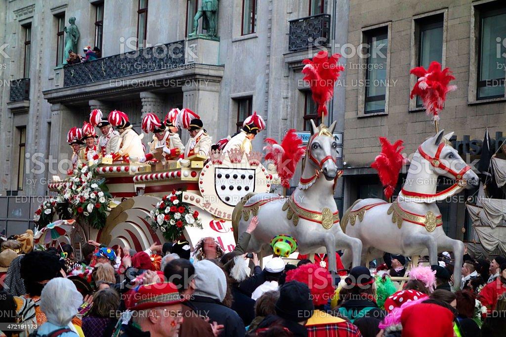 Prinzengarde carnival float in Cologne 2014 stock photo