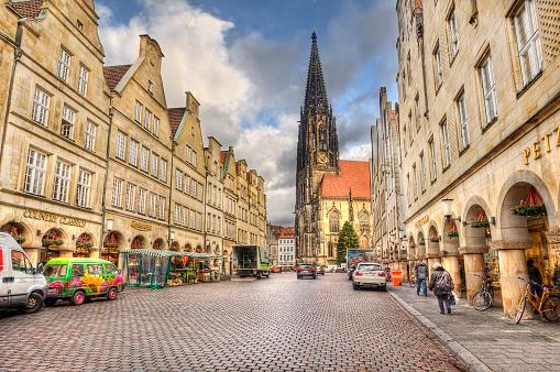Prinzipalmarkt Mainstreet Of Munster Germany Stockfoto und mehr Bilder von Arkade