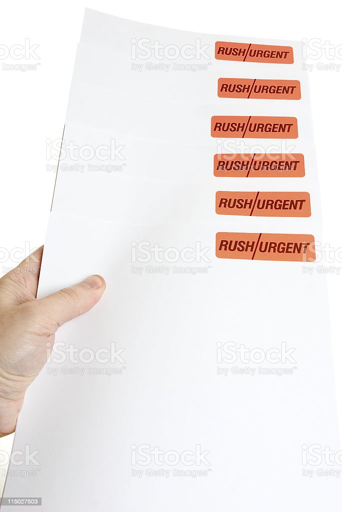 Priorities - Everything is Urgent royalty-free stock photo