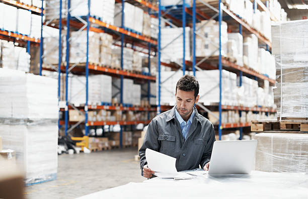 prioritising the deliveries - warehouse stock photos and pictures