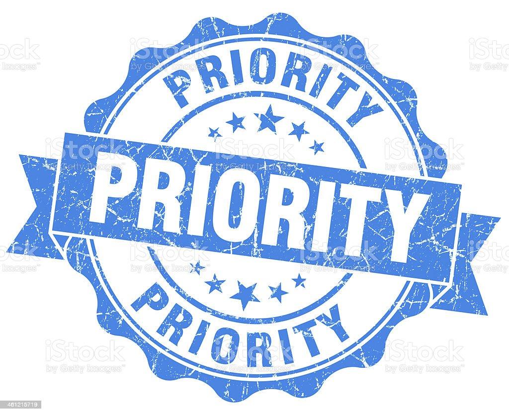 Priority Grunge Stamp stock photo
