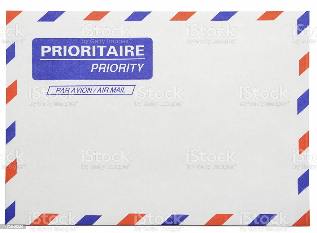 Priority Mail royalty-free stock photo