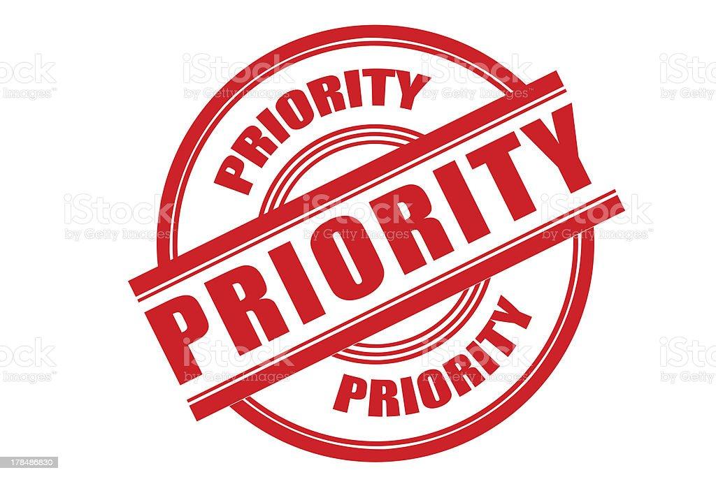 Priority royalty-free stock photo