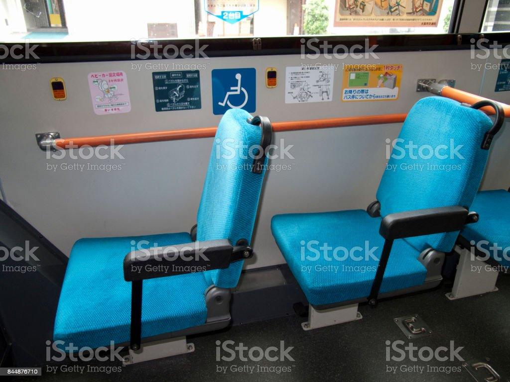 Asientos para autobuses - foto de stock