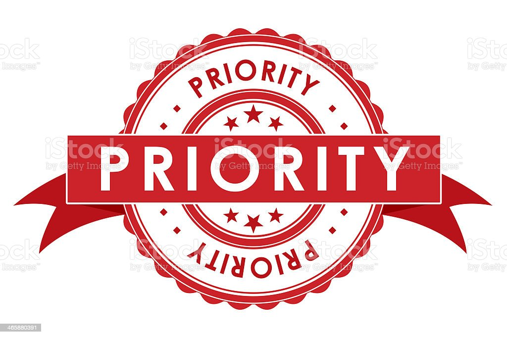Priority Symbol With Ribbon Stock Photo More Pictures Of Advice