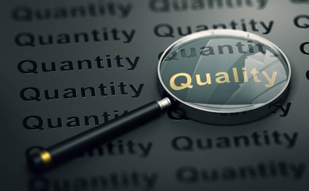 priority to quality over quantity - quality stock photos and pictures