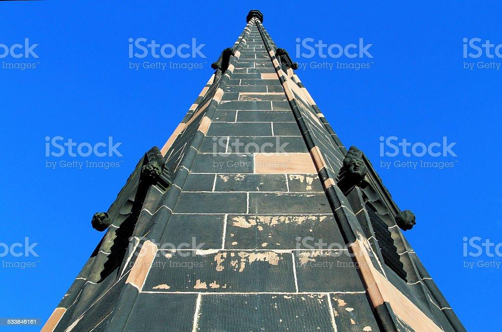 Priory Steeple stock photo
