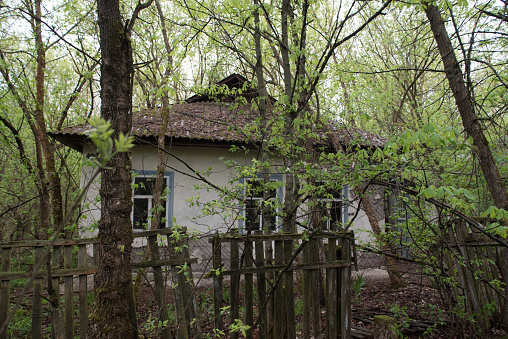 istock Pripyat and Chernobyl exclusion zone in Ukraine 1218907492