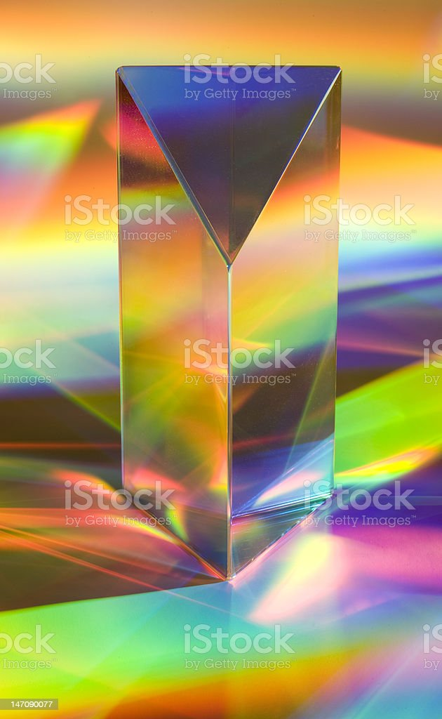 Prism With Rainbows stock photo
