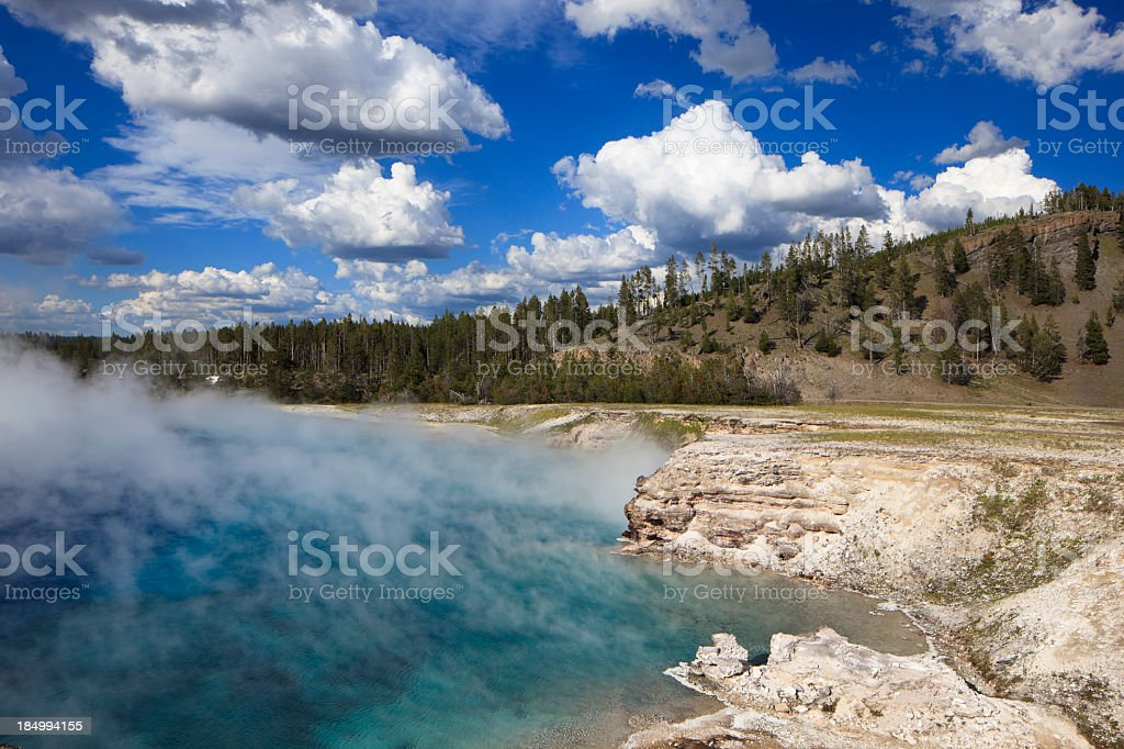 Prismatic Springs in Yellowstone National Park stock photo