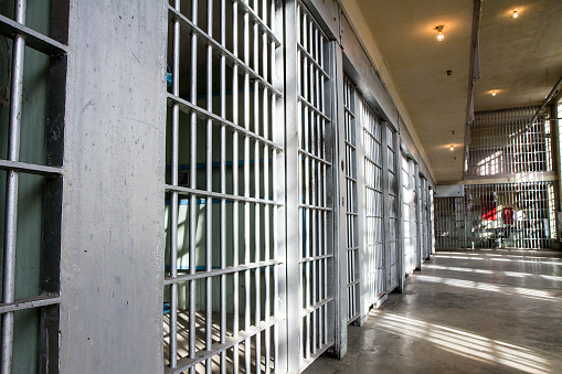 prison bars all locked up