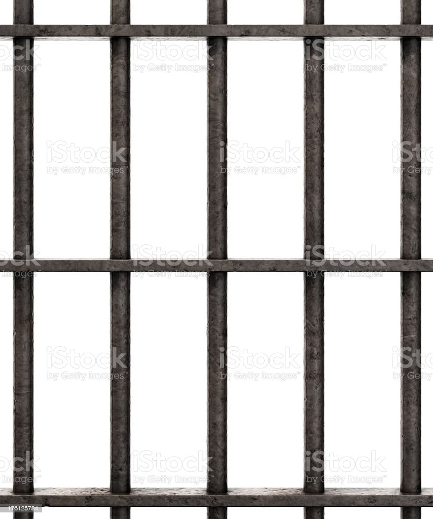 Prison Bars close stock photo