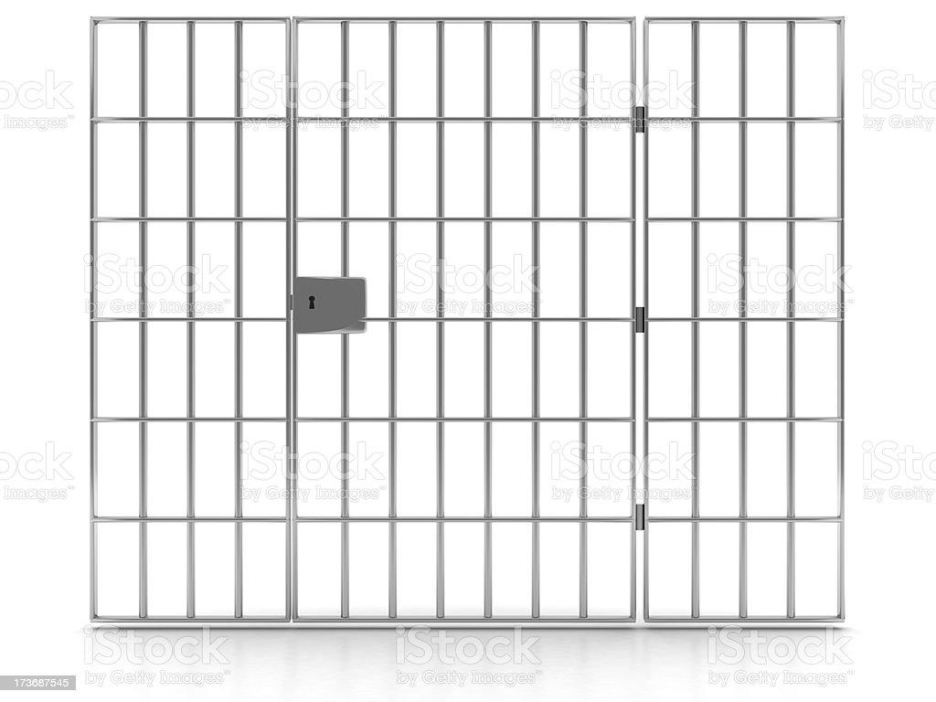 Prison bars royalty-free stock photo