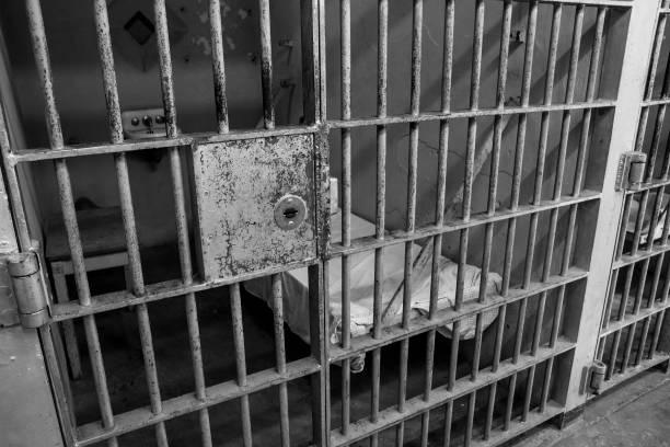 prison bars stock photo