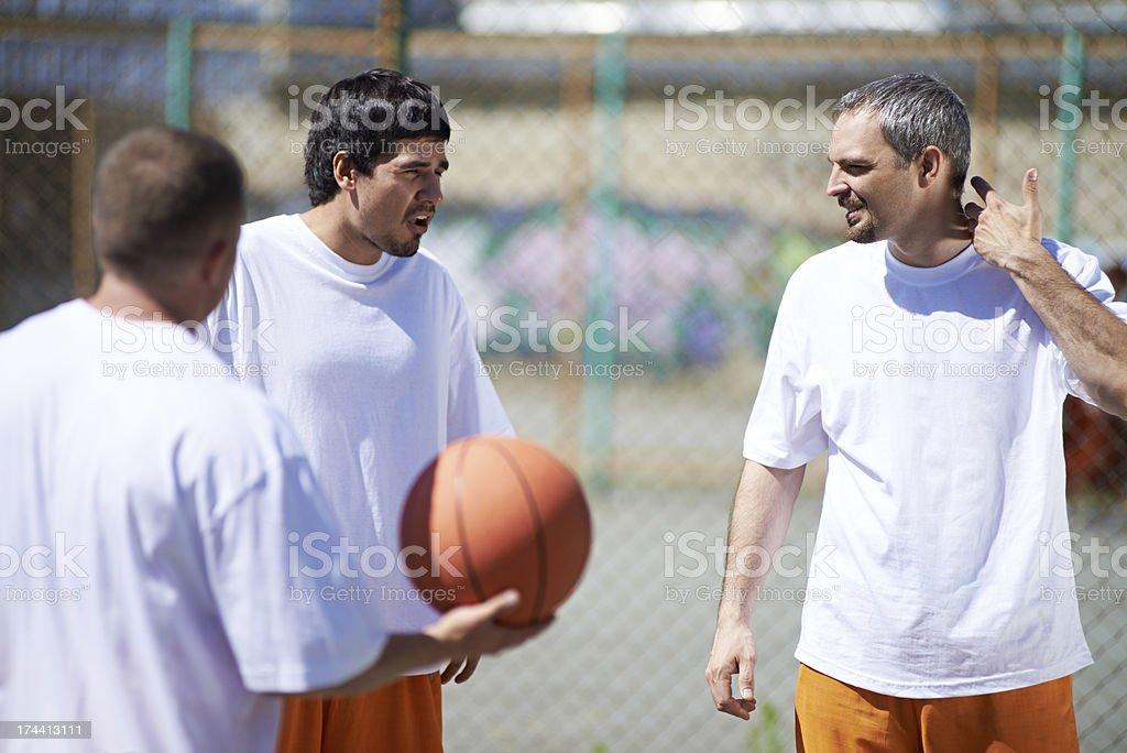 Prison basketball stock photo