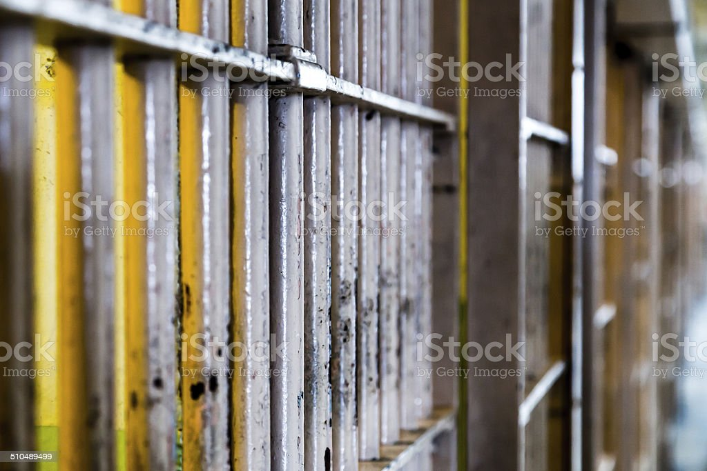 Prison Cell Bars stock photo