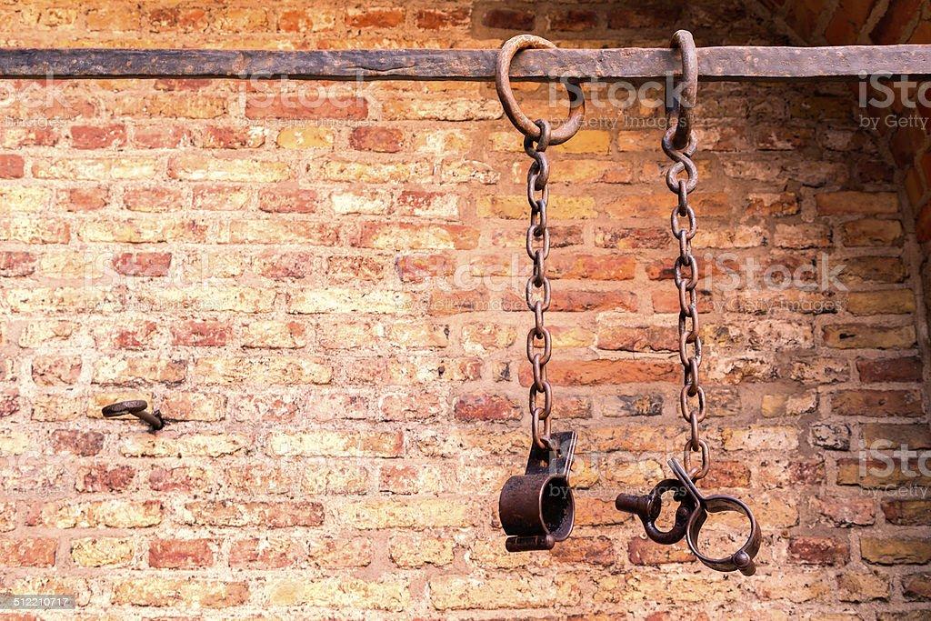prison chains stock photo