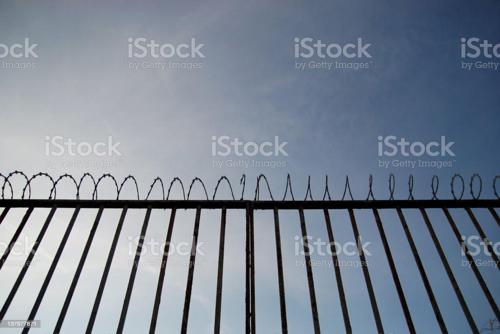 Prison fence royalty-free stock photo