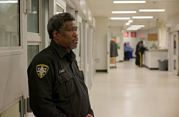 Prison Guard on Duty stock photo