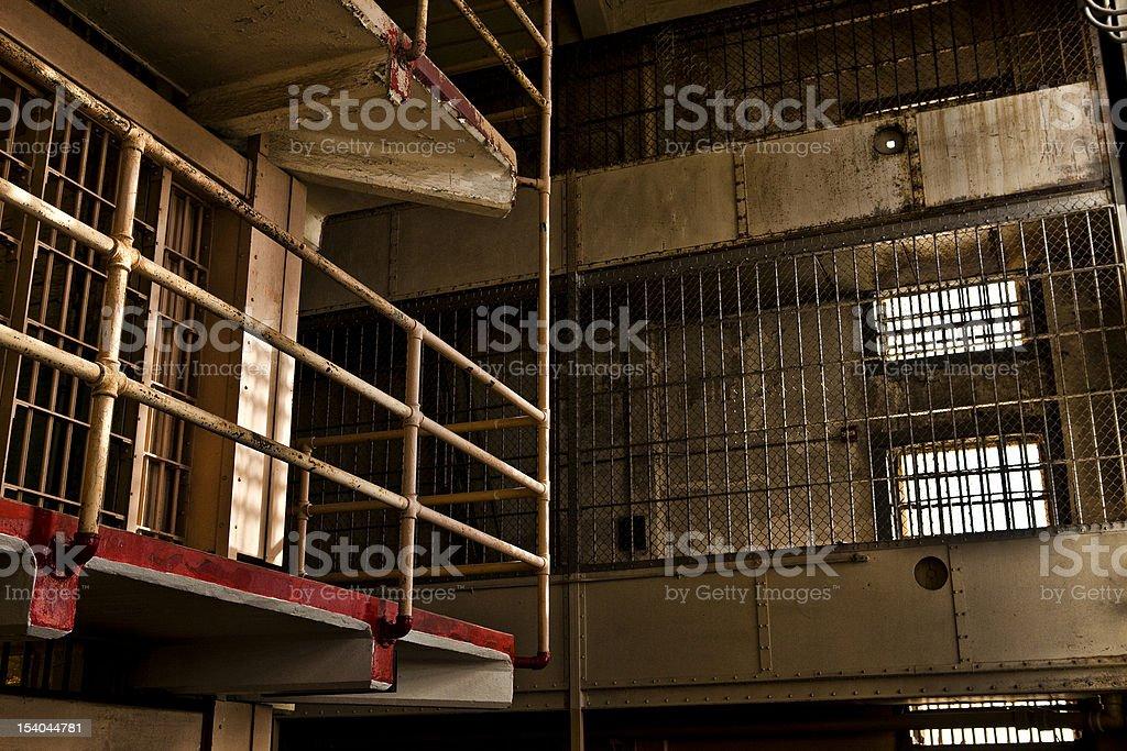 Prison Gun Gallery stock photo